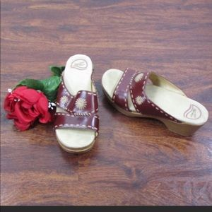 Dansko Embroidered SlideOn Wedges 39